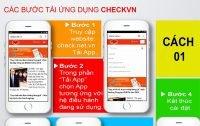 Hướng dẫn tải và sử dụng ứng dụng CheckVN