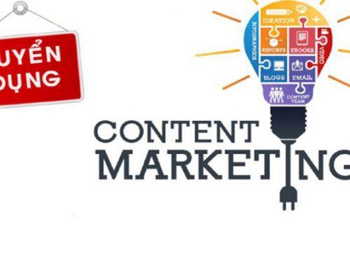 Tuyển gấp Nhân Viên Content Marketing